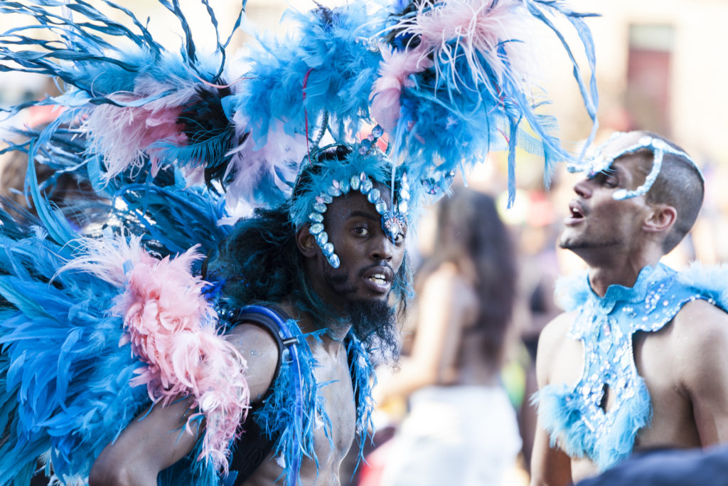 Men taking Part in West Indian Carnival Parade