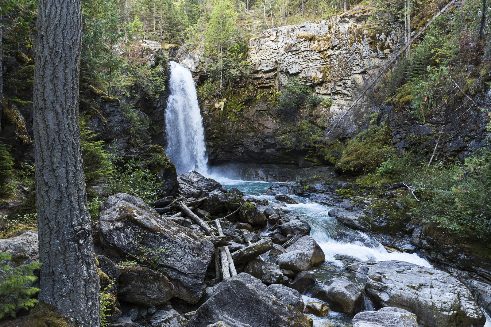Waterfall at Blanket Creek Provincial Park